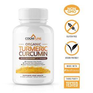 Organic Turmeric Curcumin Supplement with Ginger & Bioperine